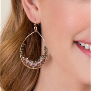 Francesca's Beaded Teardrop Earrings